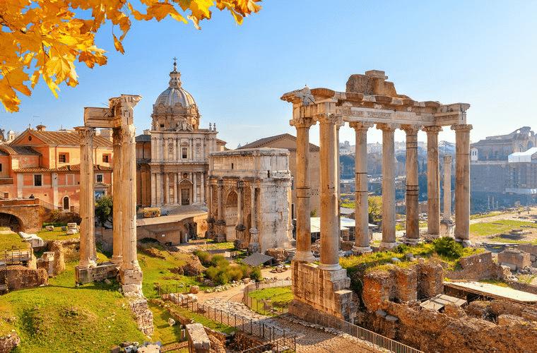 巨大なローマ帝国は日々の積み重ねで巨大な都市を築いた
